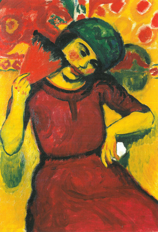 Max Pechstein - Mulher Jovem de Vermelho - 1910