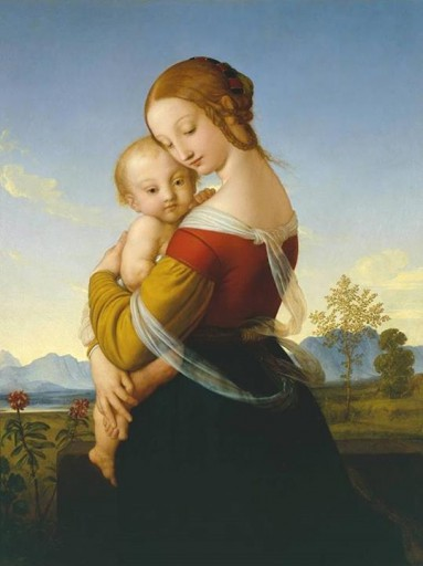 William Dyce Madonna e Crian??a 1827-30 Tate - Londres
