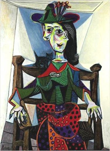 Dora Maar com Gato_Picasso_w21mercurion