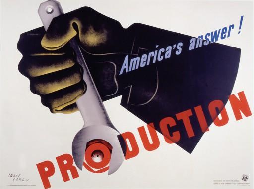 Jean Carlu -1942 Esfor??o de guerra: a resposta americana ?? a produção.