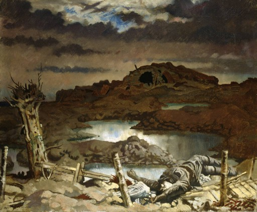 Zonnebeke 1918 by Sir William Orpen_w21mercurion