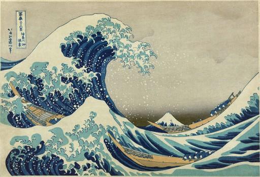 Katsushika Hokusai - 1830  A Grande Onda de Knagawa