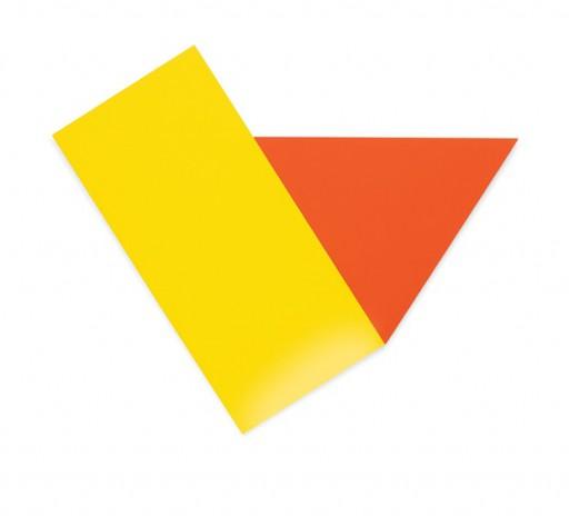 Amarelo com triângulo vermelho - 1973
